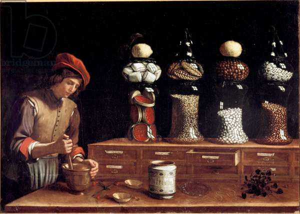 The Spice Shop (oil on canvas, 1637)