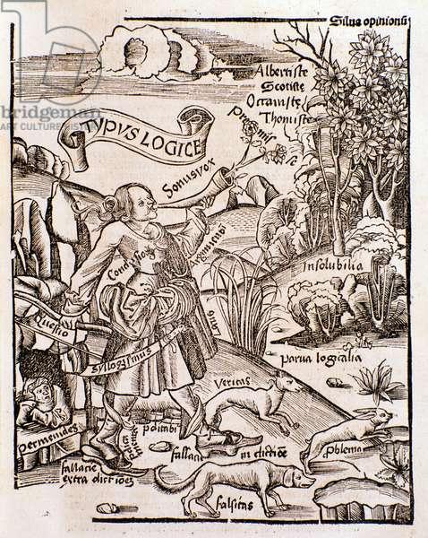 Allegory of logic from  Margarita philosophica by Gregor Reisch (1508)