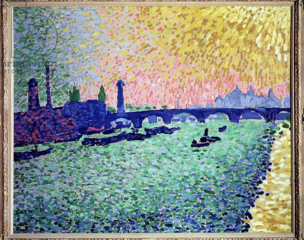 Waterloo Bridge in London Painting by Andre Derain (1880-1954) 1906 Madrid collection Thyssen-Bornemisza