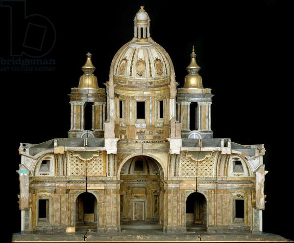 Model of the Cathedral of St. Isaac of Dalmatia in Saint Petersburg, 1767-69 (wood, oil paint, with gilding, paper & plaster)