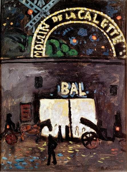 Le moulin de la Galette a Montmartre Painting by Auguste Chabaud (1882-1955) 1905 Fauvism Musee national art moderne, centre georges Pompidou, Paris