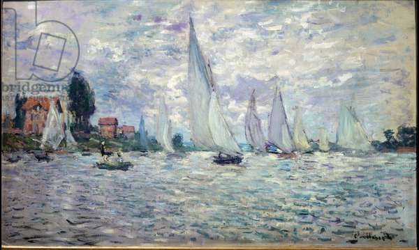 The boats. Regates a Argenteuil  - oil on canvas, 1874