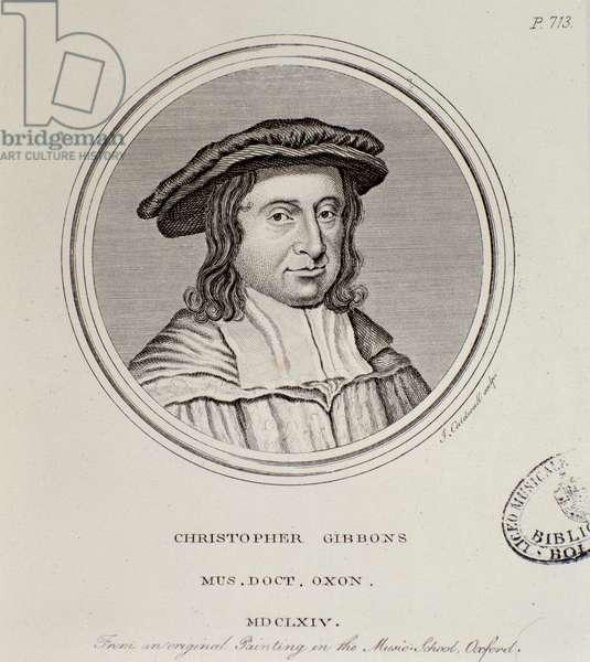 Portrait of Christopher Gibbons (1615-1676) british composer