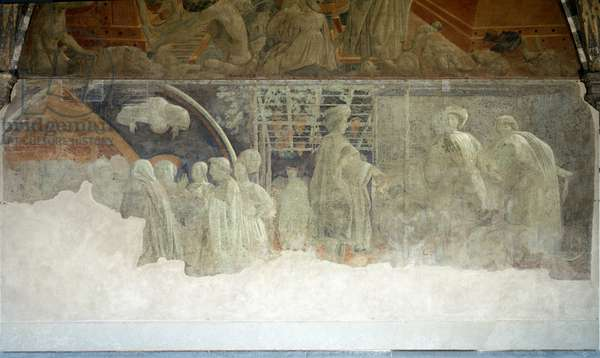 Story of Noah, the drunkness - Fresco, 1446-1448