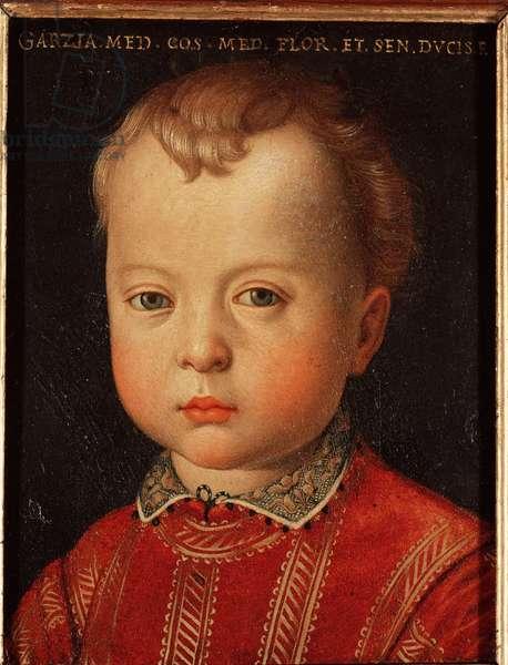 Portrait of Garzia de Medicis (Garzia de Medici) (1547-1562) Child Painting by Allori Angelo di Cosimo dit Bronzino (1503-1572) 16th century Sun 15x12 cm Palace Medici-Riccardi (Medici Riccardi) Florence