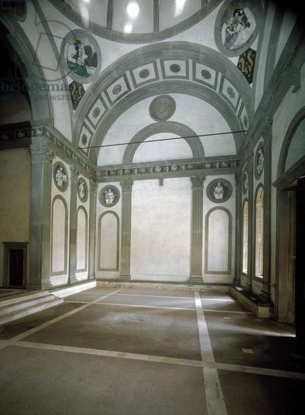 Interior view of the Pazzi chapel, 15th century