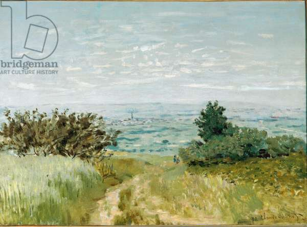 View from plain to Argenteuil, slopes of Sannois - 1872. Oil on canvas