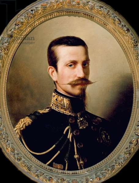 """""Portrait de Ferdinand de Savoie (1822-1855) duc de Genes"""" (Ferdinando di Savoia duca di Genova) Peinture de Kirchmayr (19eme siecle) Museo Nazionale del Risorgimento Turin ©Luisa ricciarini/leemage"
