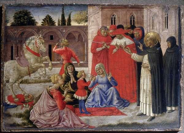 St Dominic raises Napoleone Orsini (oil on panel, c.1513-1516)