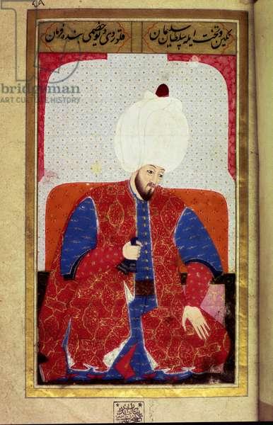 Suleiman I the Magnificent, Ottoman Sultan, 1579 (miniature)