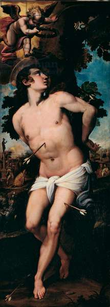 The Martyrdom of St. Sebastian. 16th century (Painting)
