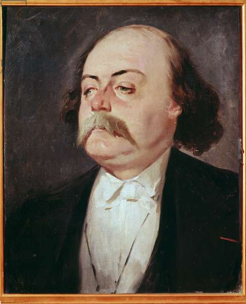 Portrait of Gustave Flaubert (1821-1880) - Painting by Pierre Francois Eugene Giraud (1806-1881), Oil on canvas. 0.55 x 0.45 m. Castle Museum, Versailles, France