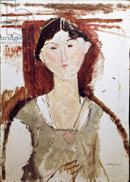 Portrait of Beatrice Hastings. Painting by Amedeo Modigliani (1884-1920), 1915. Bologna, Galleria D'Arte Moderna (Museum of Modern Art, Bologna)