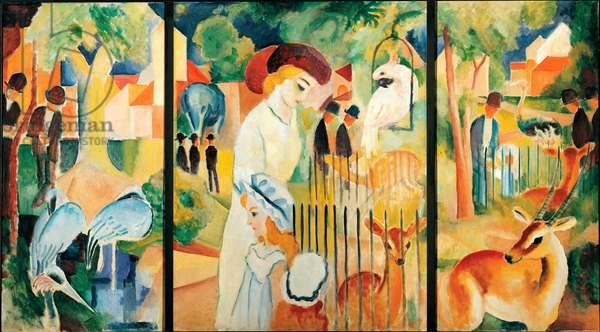 The big zoological garden. Painting by August Macke (1887-1914), 1912. Oil on canvas. Dim: 129,5x100,5cm Dortmund, Museum am Ostwall
