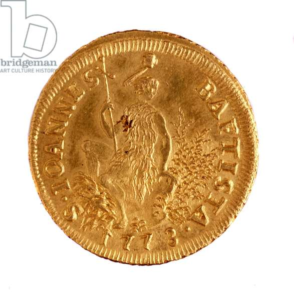 Golden ruspone from Florence, reign of Leopold II roman emperor (1747-1792), 1773 Diam. 3.7 cm Naples, museo archeologico