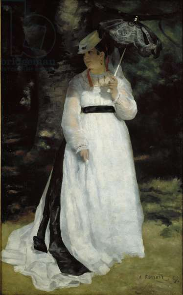 Portrait of Lise (oil on canvas)