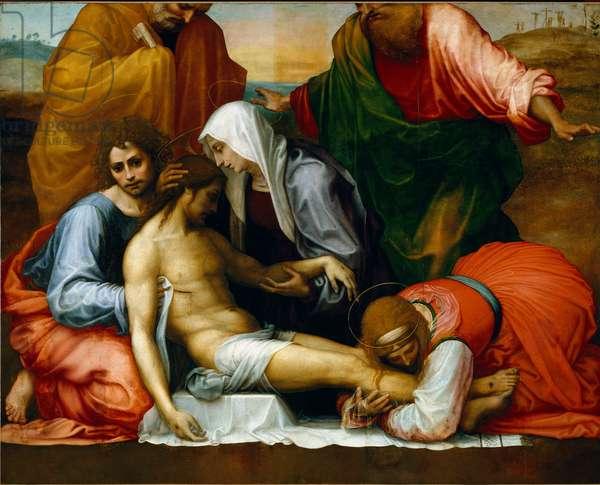 La Lament sur le christ mort - Compianto sul Cristo morto. 1511-1512. Painting Fra 'Bartolomeo (Bartolomeo della Porta detto) (1472-1517), Florence, Galleria Palatina