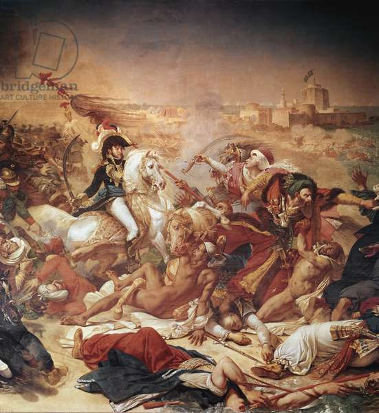 Battle of Abukir, general Murat fighting against ottoman army, detail (1806, Oil on canvas)