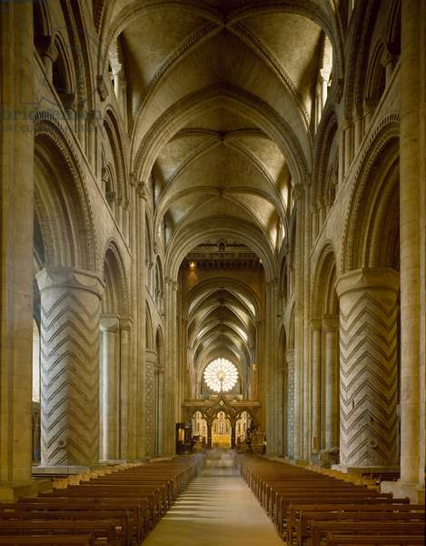 View of the central nave, 1093 (photography)