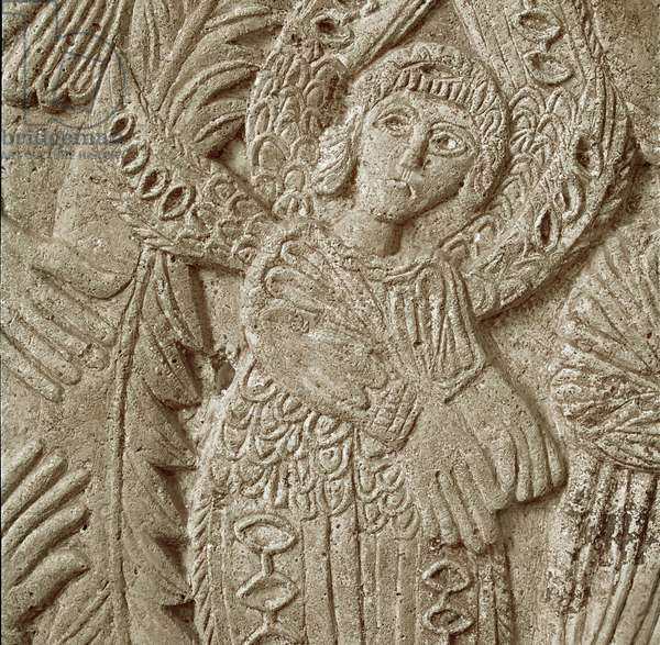Detail from 'Christ in Majesty' (stone)