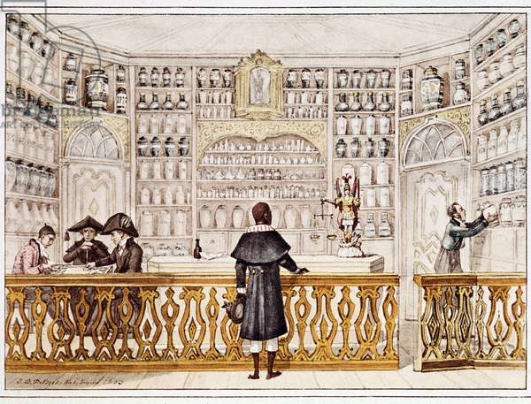 The apothecary (print, 1828)