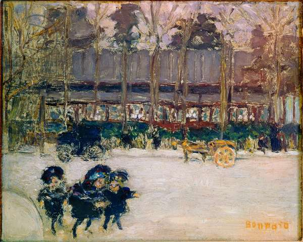 Boulevard de Clichy, three children Painting by Pierre Bonnard (1867-1947) 20th century Private Collection