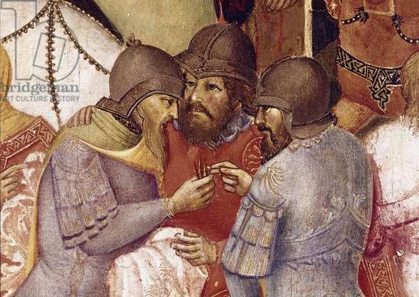 Crucifixion Detail Painting by Agnolo Gaddi (14th century) Dim 57,5x77 cm Florence Galleria degli Uffizi (Offices)