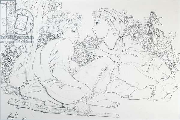 Idyll, 1970 (ink on paper)