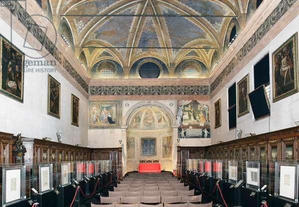 View of the old sacristy by Bramante (Donato di Pascuccio) (1444-1514) (View of the old sacristy by Bramante) Milan, Basilica di Santa Maria delle Grazie