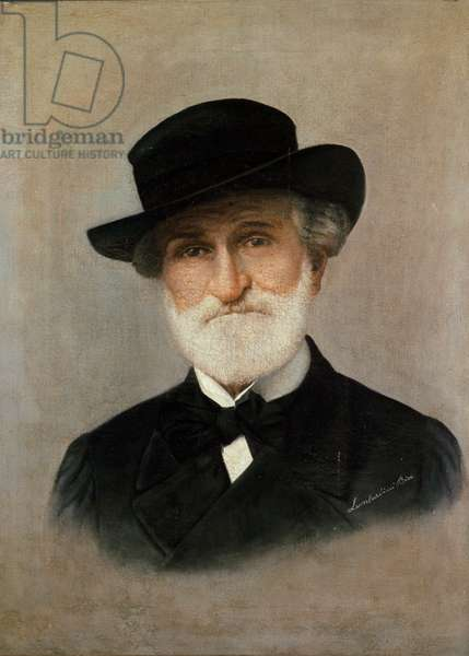 Portrait of the Italian composer Giuseppe Verdi, 19th century