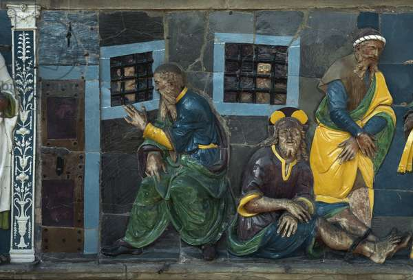 The Seven Works of Mercy, visiting the prisoners, 1526-1528) (low Terracotta relief)