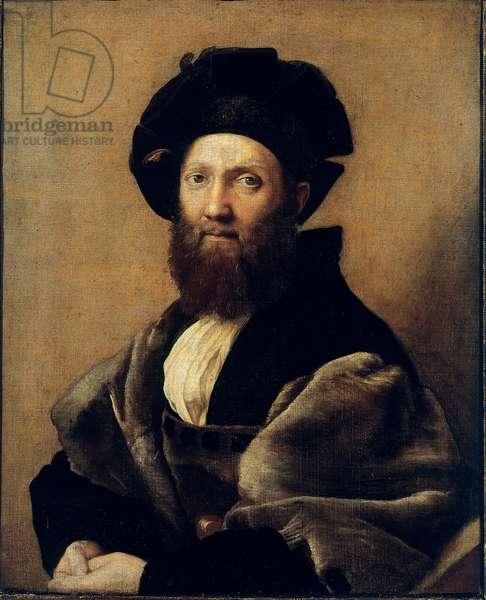 Portrait of Baldassare Castiglione (Oil on canvas, 1514-1515)