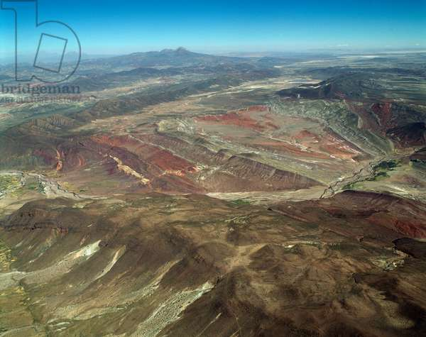 Air view on the Cordillere des Frailes in Bolivia, 1983 - Aerial view of Frailes Cordillere in Bolivia, 1983 - Photography