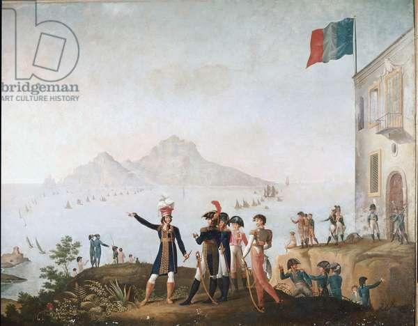 Le roi de Naples ordonne la prise de la ville en aout 1808 et y assiste depuis Massa Lubrense