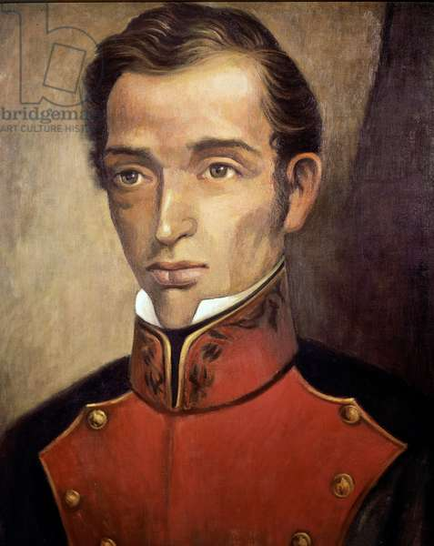Portrait of the politician Francisco Garcia Salinas (1786-1841) Anonymous painting - 19th century Mexico City, National Historical Museum, Chateau de Chapultepec