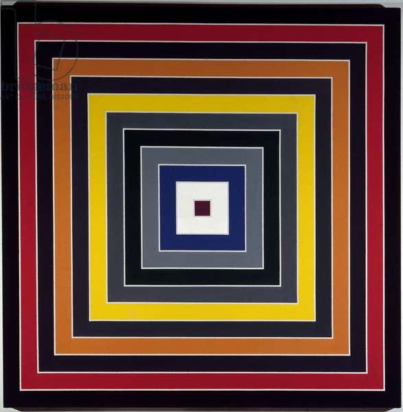 Gay scramble VI Painting by Franck Stella (ne en 1936) 1968 Sun 176x176 cm Private Collection