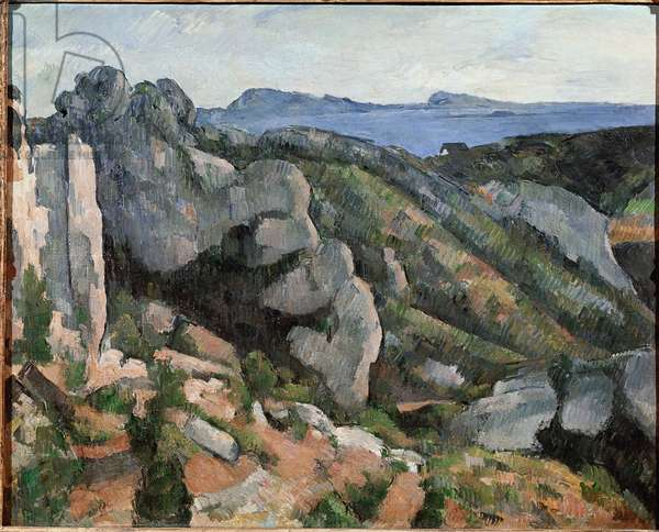 Rocks a l'Estaque, 1879-1882. Painting by Paul Cezanne (1839-1906). Oil on canvas - dim. 73x91cm. Sao Paulo, Brazil, art museum of Sao Paulo Assis Chateaubriand