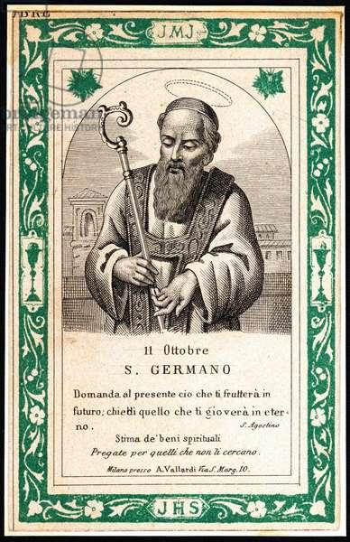 Representation of Saint Germain, early 20th century (print)