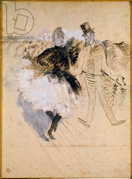 Goulue and Valentin le Desosse at the Moulin de la Galette, 1887 (oil on paper)