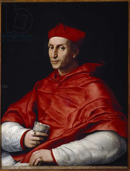 Portrait of Bernardo Dovizi da Bibbiena (1470-1520) Italian Cardinal and Playwright Painting by Raffaello Sanzio dit Raphael (1483-1520) 1516 Florence, Galleria Palatina