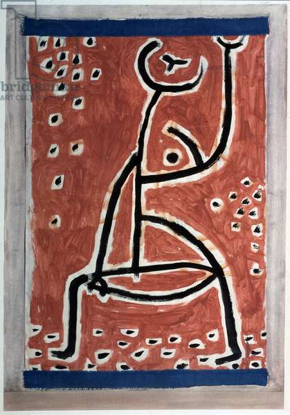 Ladies Sporty Painting by Paul Klee (1879-1940) 1938 Dim 54x34,5 cm Bern, Collection Felix Paul Klee