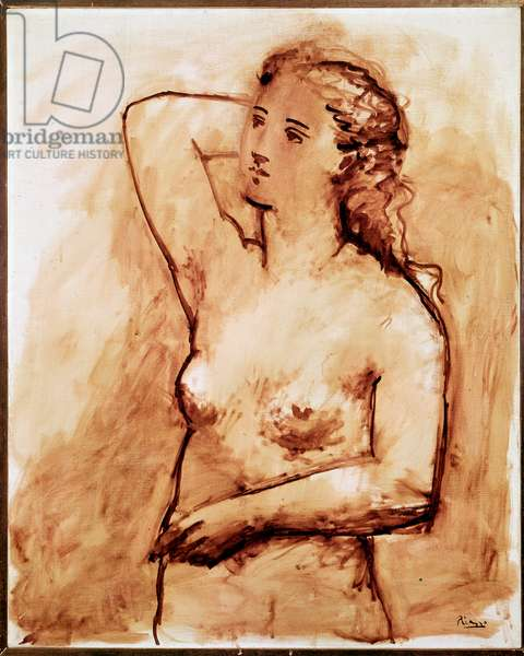 Naked, woman's chest Drawing by Pablo Picasso (1881-1973) 1929 Paris, musee national d'art moderne