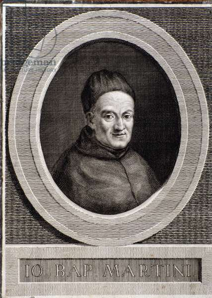 Portrait of Giovanni Battista Martini (1706-1784) italian composer and music theorist