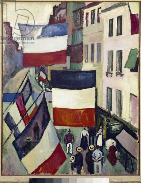 La rue pavoisee au Havre Painting by Raoul Dufy (1877-1953) 1906 Paris, Musee National d'Art Moderne