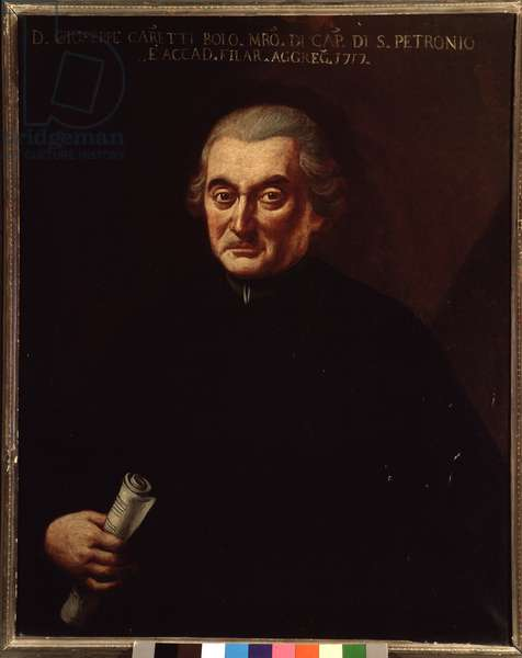 Portrait of Giuseppe Maria Caretti (1690-1774) italian composer Anonymous painting. 18th century. Bologna, civico Museo Museo