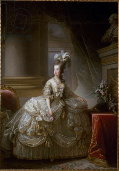 Portrait of the Queen of France Marie Antoinette (1755-1793)