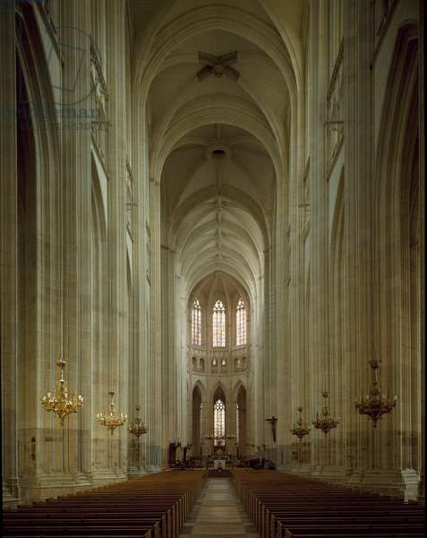 Internal view of the St. Peter Cathedral, 1434 and completed in the 16th century (photography)