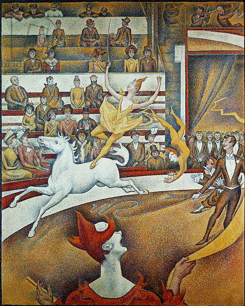 The circus - Painting by Georges Seurat (1859-1891), 1891 - Pointillisme - Oil on canvas - Musee d'Orsay