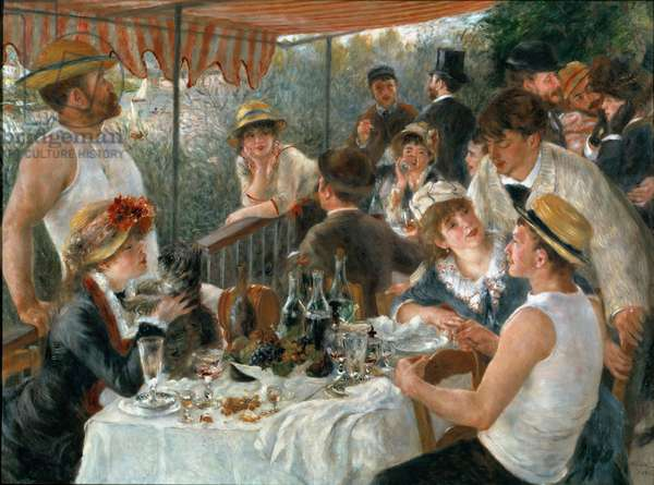 Lunch of the Boaters, 1881 (oil on canvas)