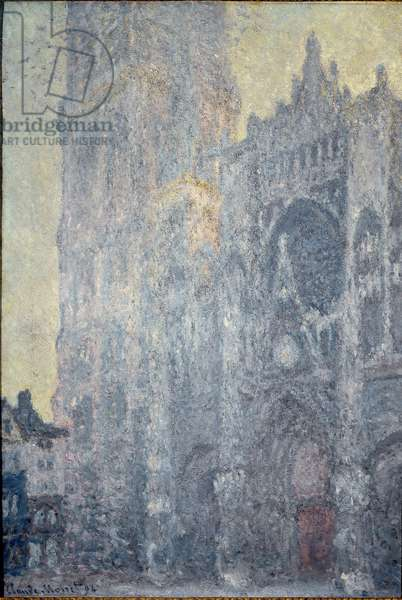 Rouen Cathedral. The portal and the tower Saint Romain, morning effect, white harmony, 1893 - Oil on canvas